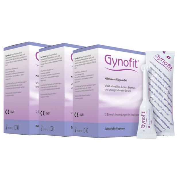 ギノフィット 細菌性膣炎対策ジェル (12本) 3箱セット